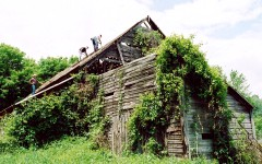 The Bacon Hill Barn before restoration.