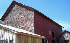 The Greenwich Barn before restoration.