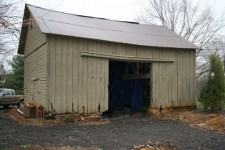 The Long Valley barn before restoration