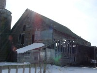 The Whittier Heights Dutch Barn before restoration.