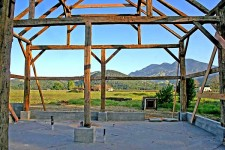 The Calistoga Barn during restoration.