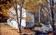 The Teeter Gristmill in it's original picturesque setting in Hunterdon County, New Jersey.