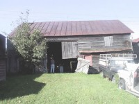The Grovenors Corners Barn before restoration.