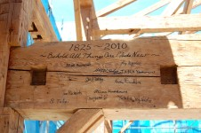...everyone signed their names on the barns large swing beam.