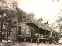 The Corsicana Dogtrot Cabin before restoration, circa 1936.