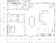 Suggested floor plan, first floor