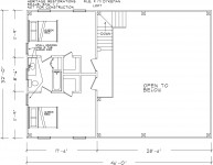 Suggested floor plan, loft