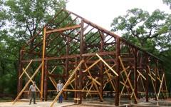 The Kipp Barn during restoration.