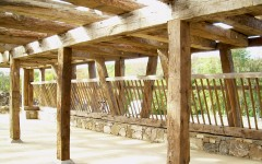 The restored sill system and mow timbers included a 70' long original built-in hay manger.