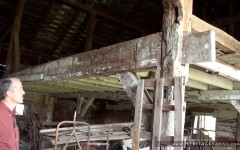 Every part of this barn is hand-hewn, which is very unusual.