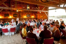 The barn is also used for wedding receptions, dinners, and other special events.
